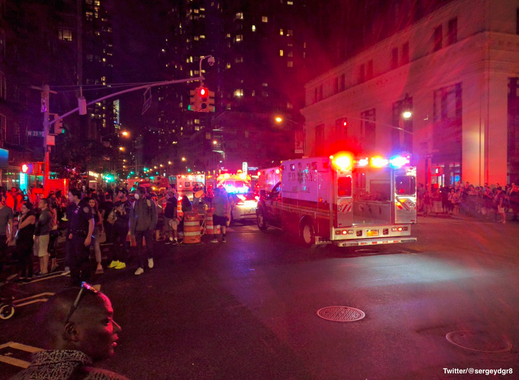 New York City Manhattan Explosion - indications are it was an intentional act