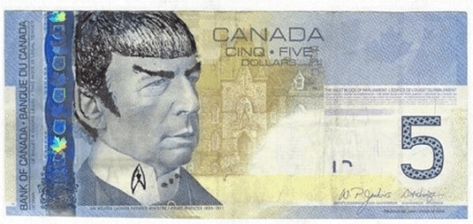 Canada Central Bank - Spock - Spocking Money - Spocking Canadian Money
