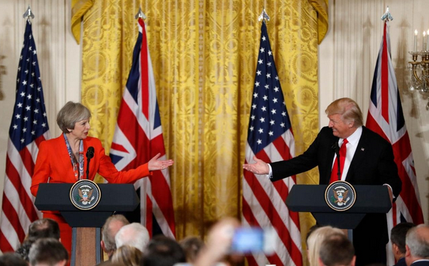 WATCH - Donald Trump & Theresa May Press Conference Video