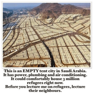 Saudi Arabia Empty Tent City Refugees