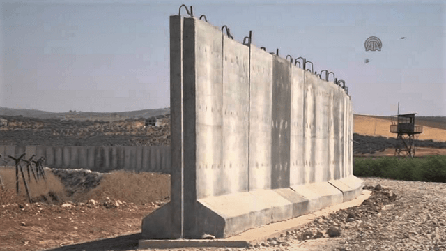Turkey Building Massive Wall On Border With Syria