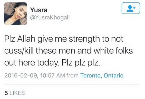 Yusra Khogali hate crime