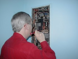 Inspecting Electrical Pannel