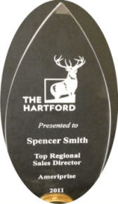 Spencer X Smith sales award from The Hartford