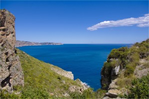 Hiking towards the watchtower of Cap d'Or