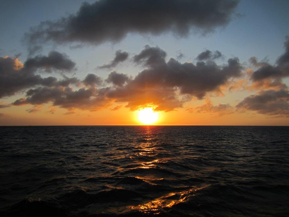 Watching the sunset in Aruba