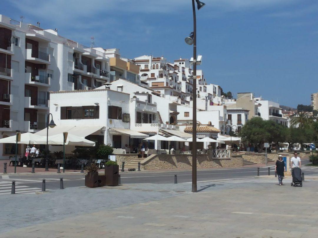 Moraira town centre, Spain