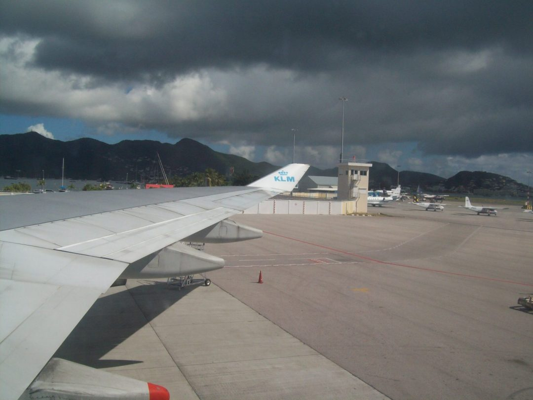 Airport of St. Maarten, waiting to fly on to Curacao