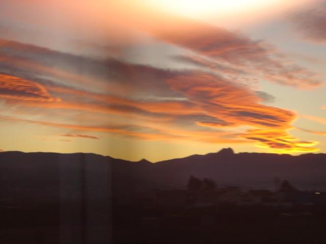 sunset outside of Barcelona