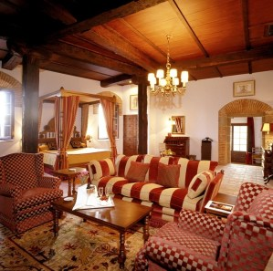 Classic hotel room in one of Spain's Parador hotels