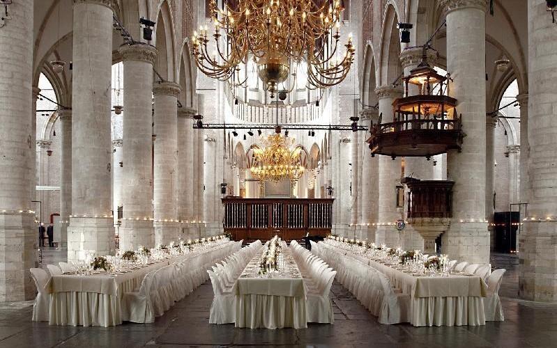 inside the Pieterskerk, Leiden, The Netherlands