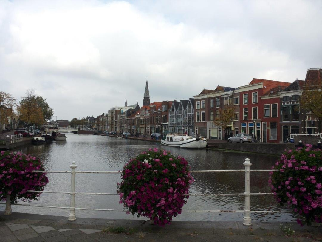 canal in Leiden, the Netherlands