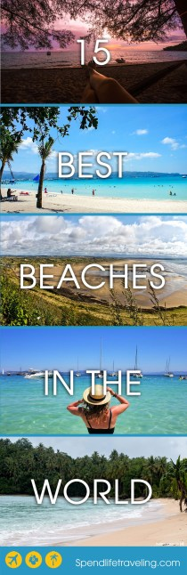 15 Of The World's Best Beaches - Selected by Travel Bloggers. Are you looking for that perfect beach? Then you have to check out some of these! #bestbeach #perfectbeach #traveltips #beachvacation #beachdestination