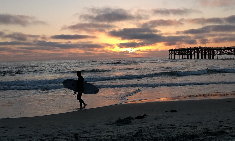 what to do on a short trip to San Diego: surfing lesson