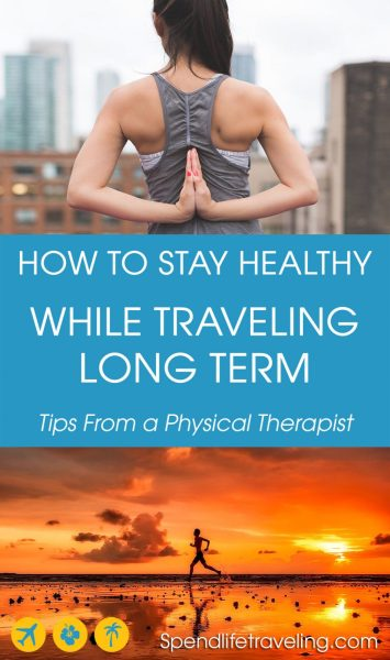 After spending a month in Colombia with phyisical therapist Melissa, we came up with this list of practical tips to keep your body and mind healthy while traveling long term (or short term). #traveltips #healthytravel #fitness #longtermtravel #digitalnomad
