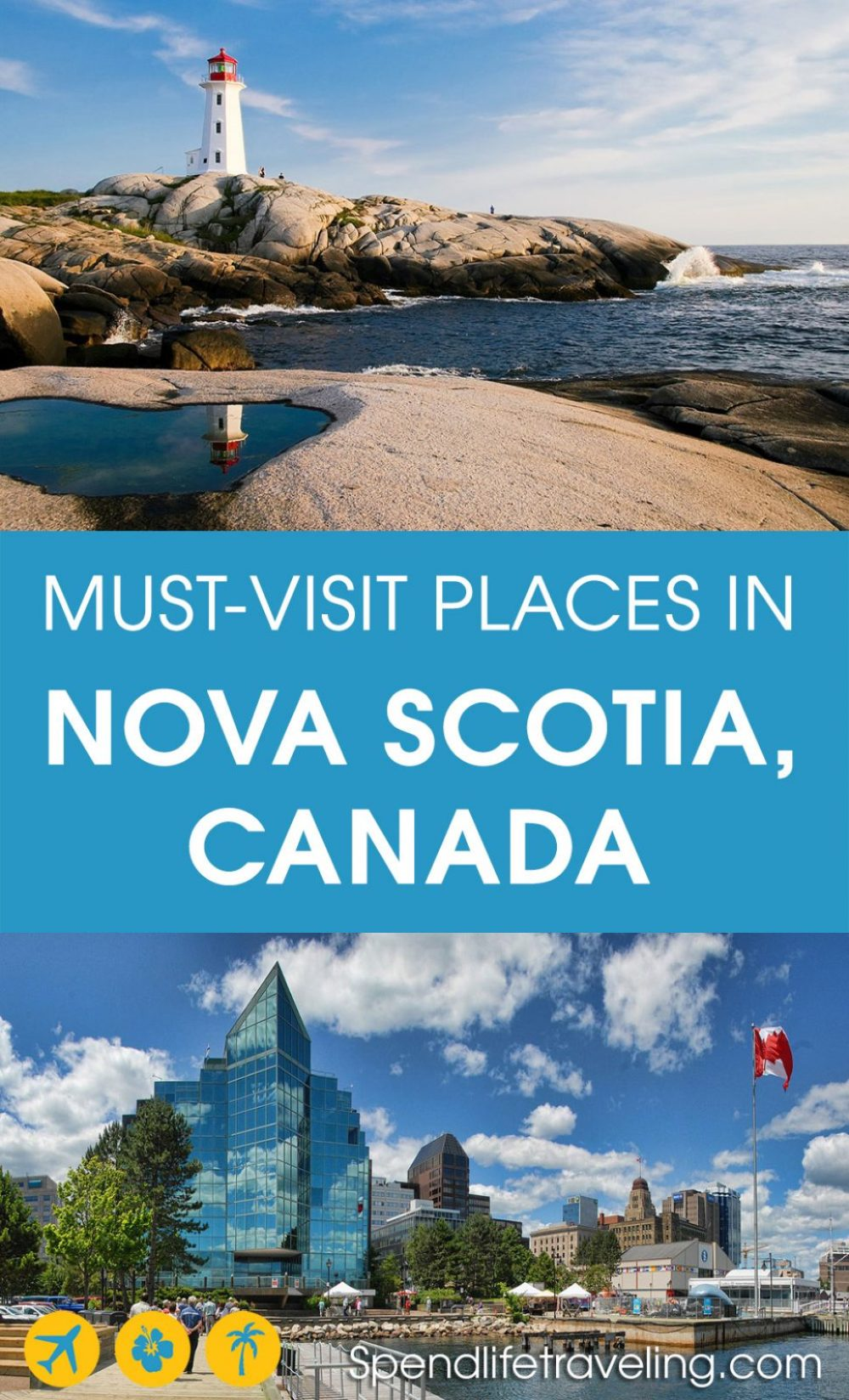 Nova Scotia is a beautiful Canadian province with a stunning coastline, cute fishing villages and incredible nature. Check out what not to miss when visiting Nova Scotia. #NovaScotia #Canada #traveltips #visitCanada #travelCanada
