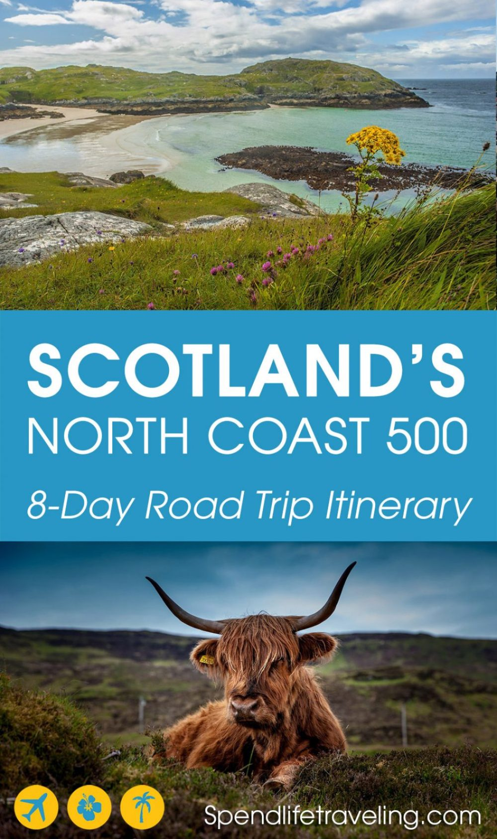 If you are looking for an incredible road trip with amazing scenery, historic castles and cute coastal towns, then add Scotland's North Coast 500 to your bucket list! #roadtrip #scotland #northcoast500 #NC500 #highlands