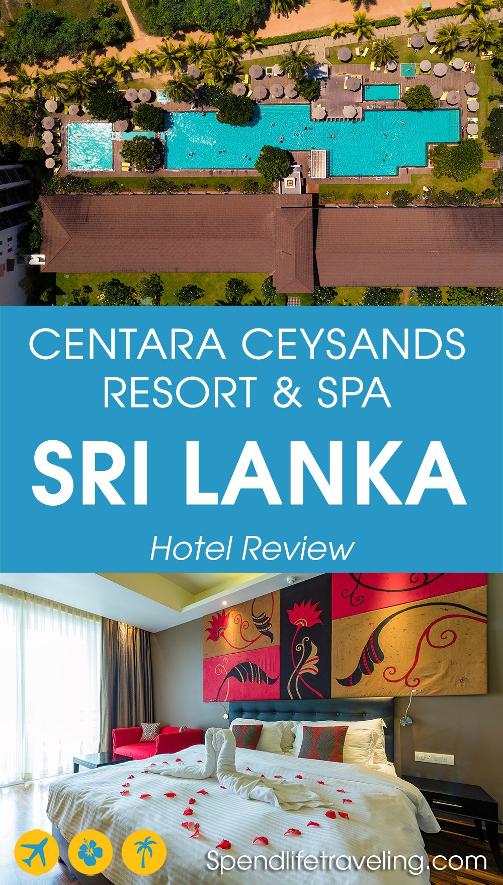 #Bentota is a popular coastal town in Sri Lanka with an incredible beach and great resorts. This is a review of #Centara Ceysands Resort & Spa. #SriLanka #SriLankahotels #hotelreview