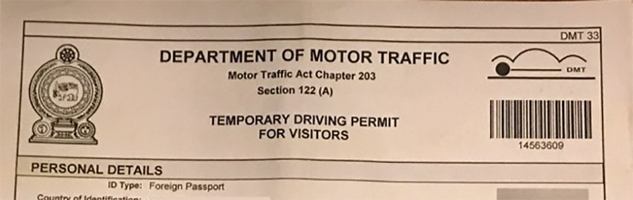 Sri Lanka driving permit - things to know about driving in Sri Lanka