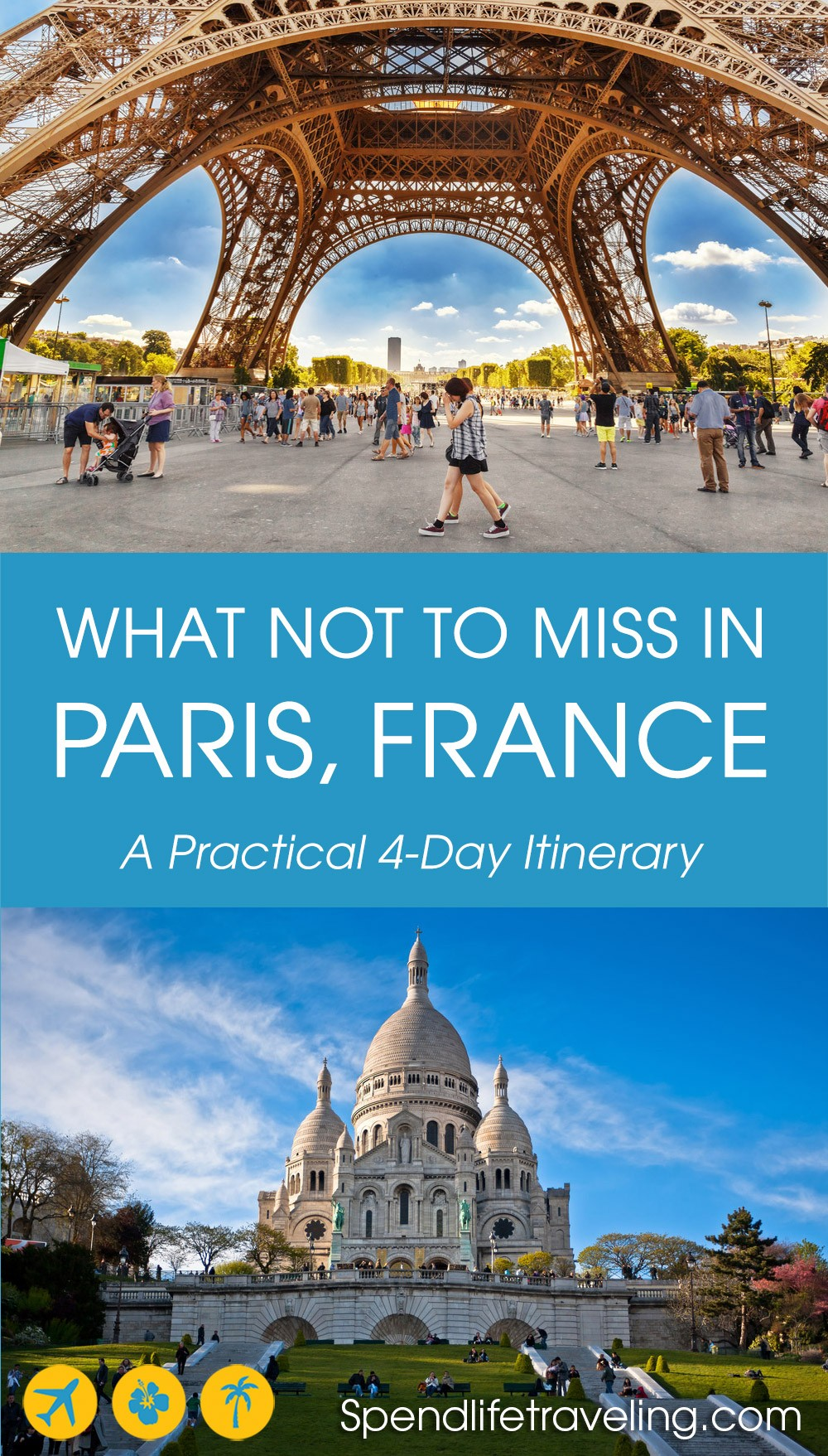 A practical itinerary for 4 days in #Paris: all of the Paris highlights you shouldn't miss. #visitParis #travelParis