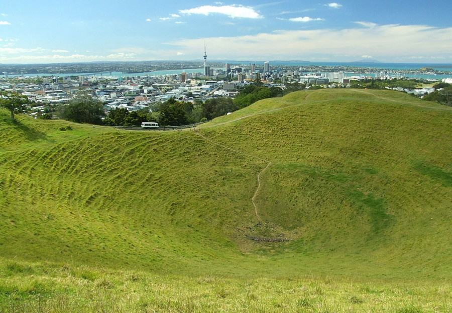 Mount Eden, part of the 7 days New Zealand North Island itinerary