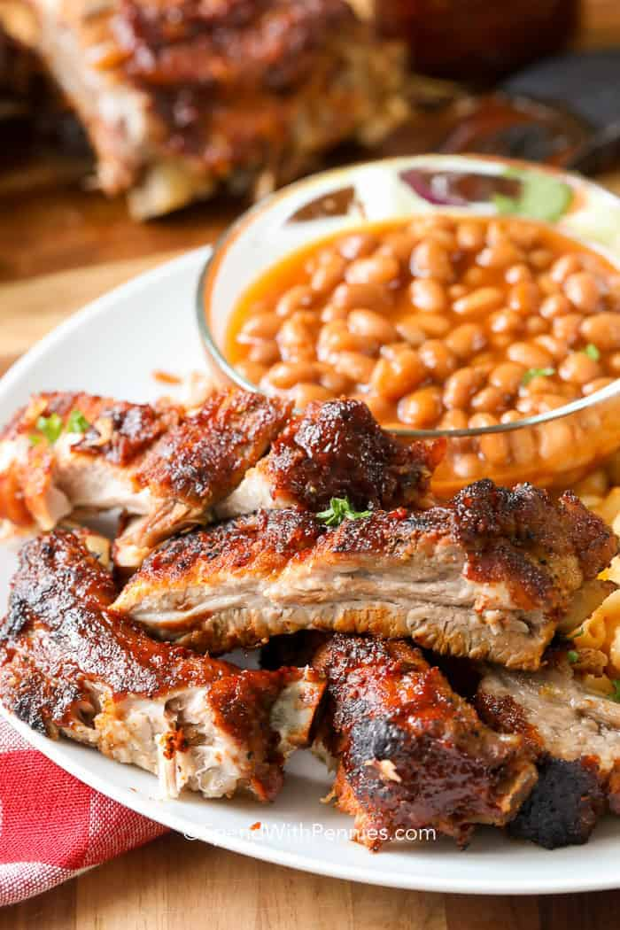 barbecue ribs in the
