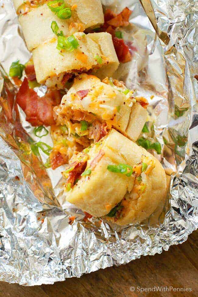 Bacon Cheddar Garlic Bread Spend With Pennies