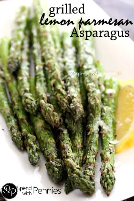 Grilled Lemon Parmesan Asparagus Recipe