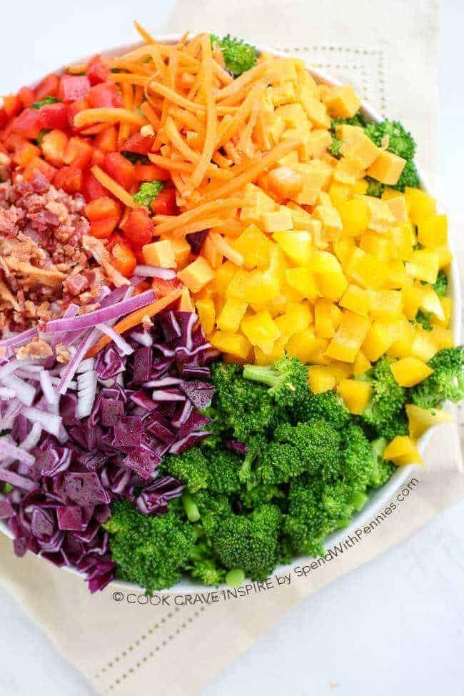 Rainbow Broccoli Salad