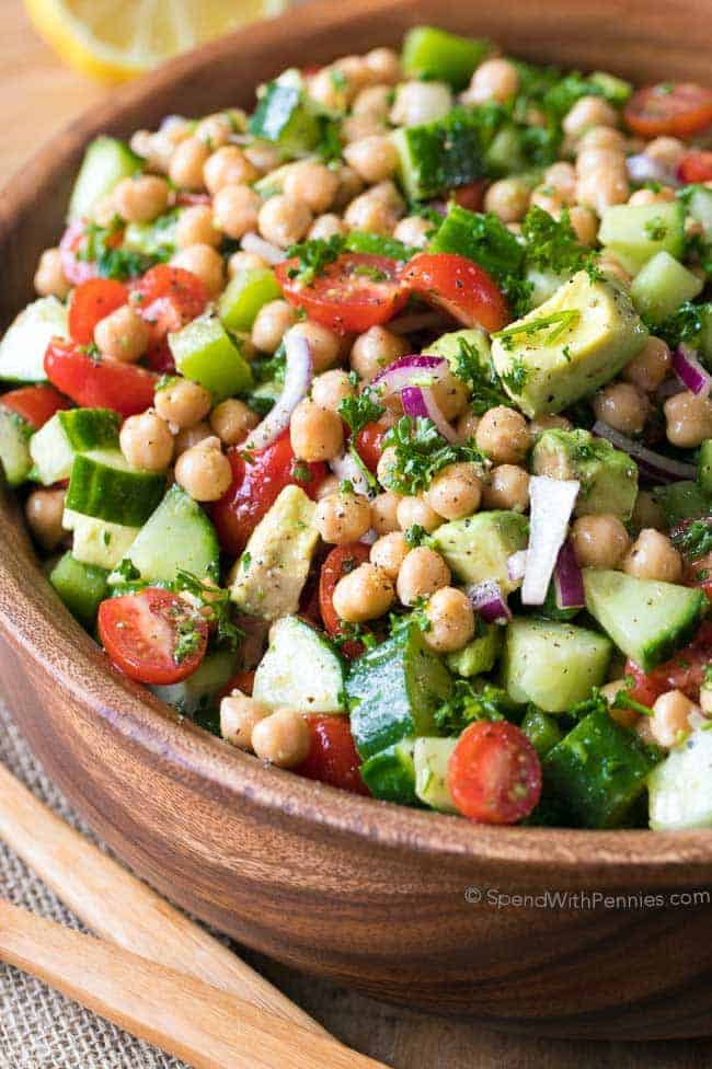 Chickpea Salad Spend With Pennies