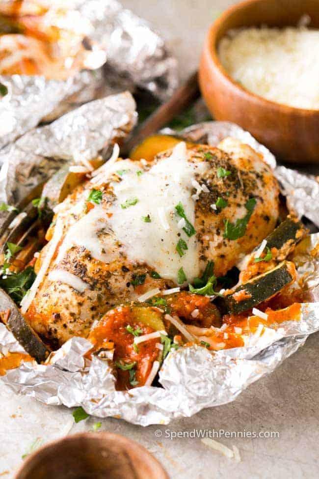 Parmesan Chicken Foil Packets