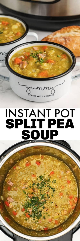 Instant Pot Split Pea Soup - Spend With Pennies