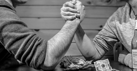 Competition arm wrestling image
