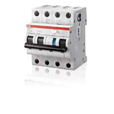 Abb - DS3NLC6AC30 - Interruttore Magnetotermico Differenziale 4.5kA. AC. Curva C 6A 30mA 3P+N | Spesa Elettrica