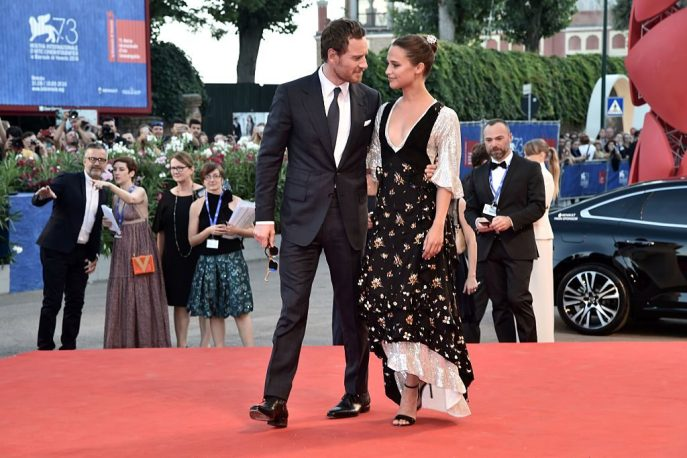 michael fassbender red carpet venezia
