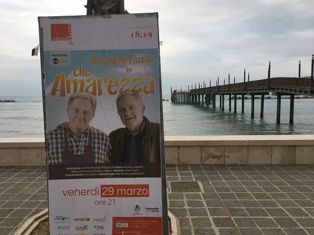 Antonello Fassari, Che Amarezza fa tappa a Francavilla, la Publispei riapre il discorso Cesaroni