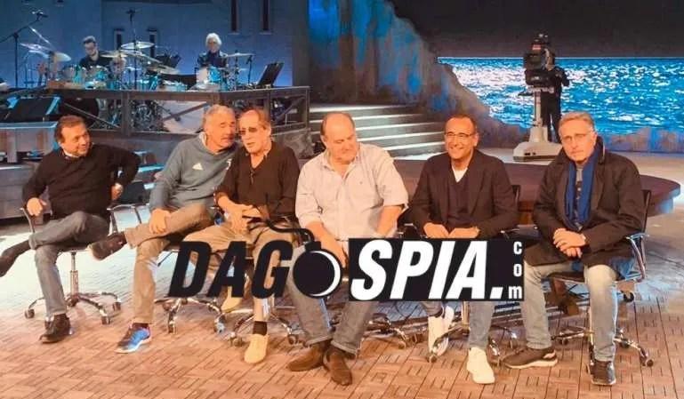 Adrian: ospiti Paolo Bonolis, Gerry Scotti, Maria De Filippi, Carlo Conti, Checco Zalone, Massimo Giletti e Piero Chiambretti. Foto dal Backstage