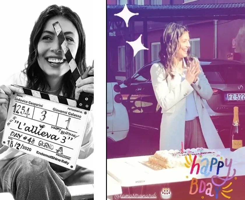 L'Allieva 3 Alessandra Mastronardi festeggia il compleanno sul set (VIDEO)