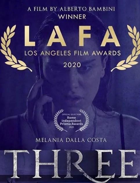 three los angeles film awards 2020 winner melania dalla costa alberto bambini