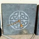 Round Celtic knotwork clock