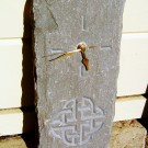 Celtic knotwork carved stone clock