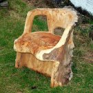 Garden chair in elm