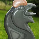 Black grouse cock slate and stone carving