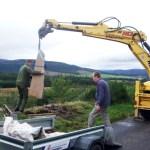 Installing a sculpture