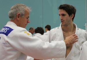 Peter Tümmers en Sebastiaan Fransen tijdens een clinic Kodokan nage-no-kata