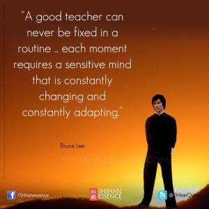 Bruce Lee - Good teacher