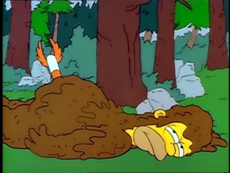 Piesgrandes era en realidad Homer Simpson, un vecino de Springfield