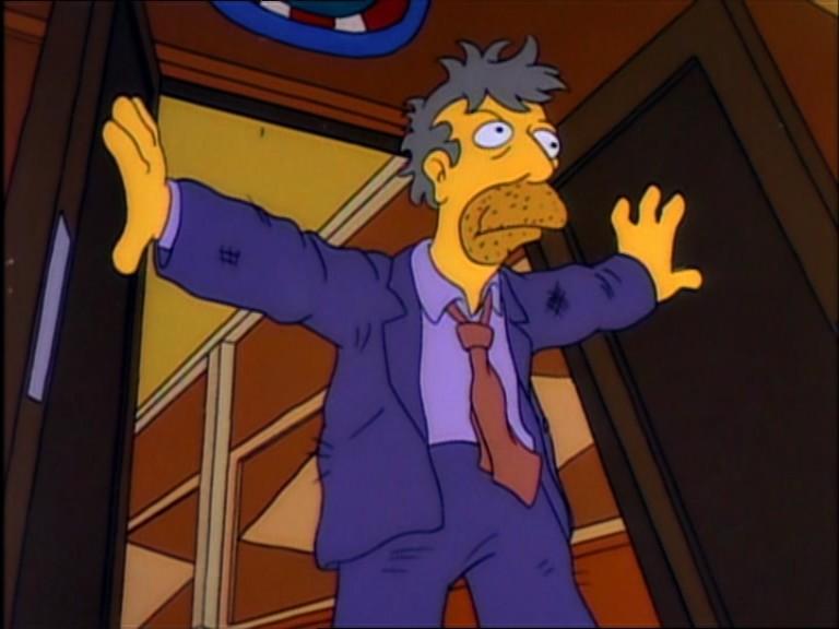 Seymour Skinner sigue vivo y relata en el Juzgado su agónica experiencia