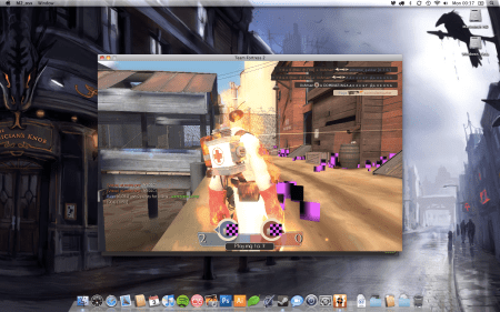 A screenshot of Team Fortress 2 running in a window on the OS X desktop.