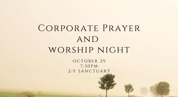 Corporate Prayer and Worship Night
